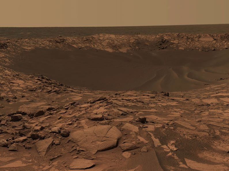 Beagle Crater on Mars-ExplorationRover-Cornell_JPL_NASA