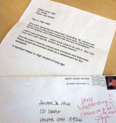 letter confessing misdeed 60 yrs later-KLSvideo