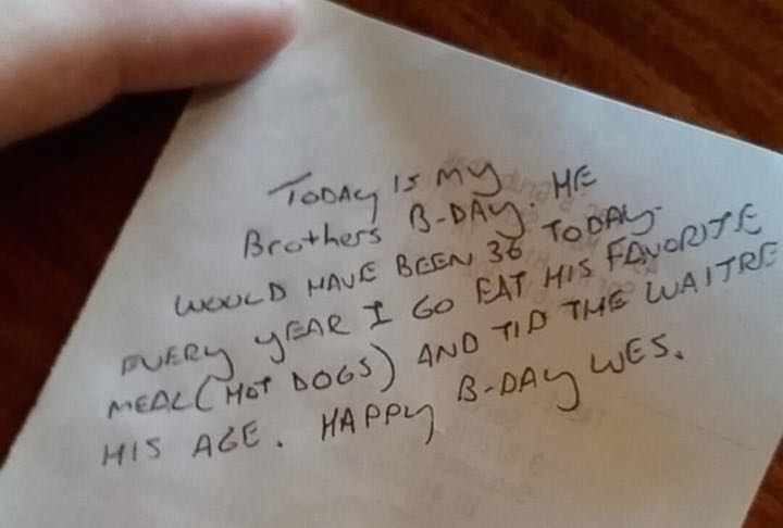 note with tip-hotdogs for wes-ClaireHudson-Imgur