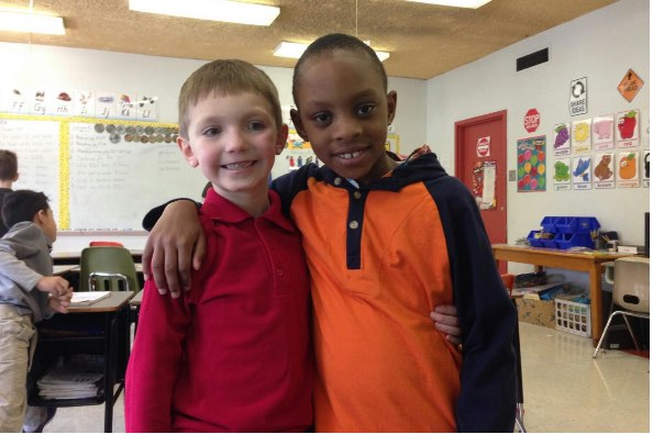 7yo boy with friend-GoFundMe-