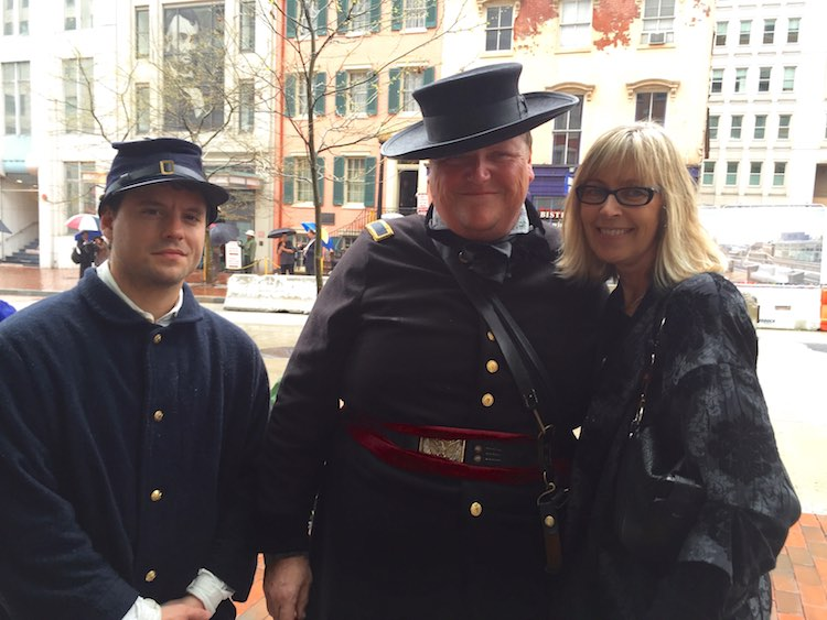 DJ with army officers-fords theatre