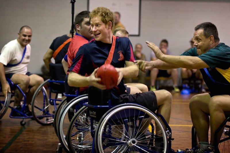 Prince Harry wheelchair football-Australian Defense Force-FB