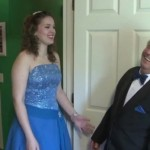 prom girl with grandpa