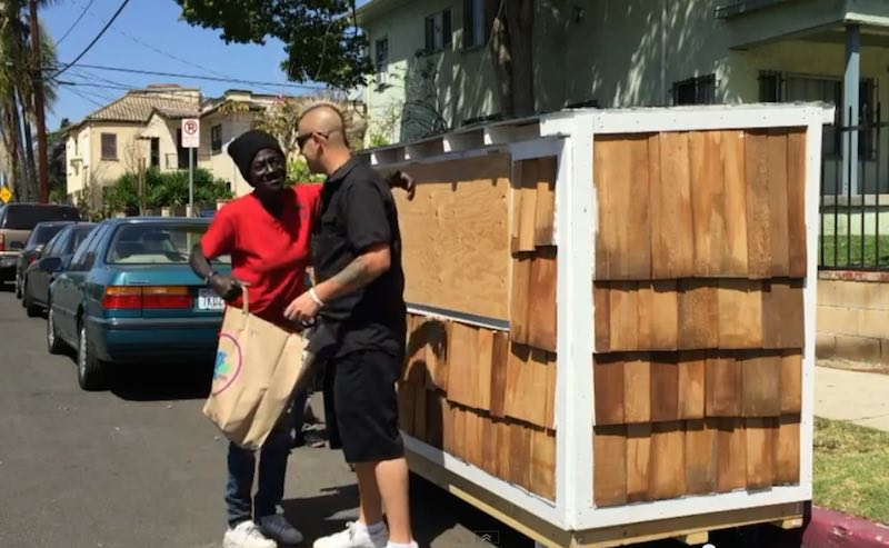 Man Builds Tiny House For Homeless Woman Sleeping In The Dirt Watch