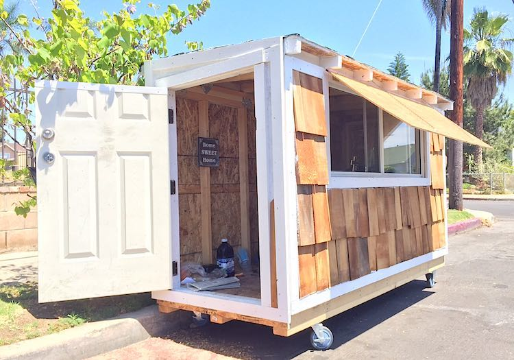 Man Builds Tiny House For Homeless Woman Sleeping In The