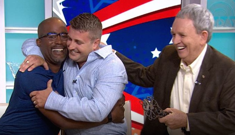 Darius Rucker Army Veteran Home Screenshot Today Show