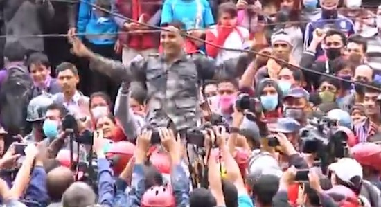 Nepal Earthquake Man Rescued Video Screen Grab Reuters