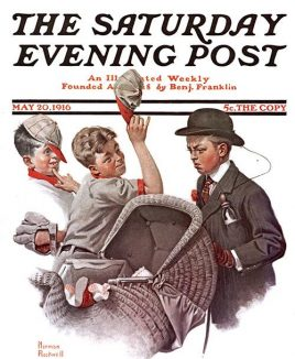 Saturday Evening Post First Norman Rockwell cover cropped