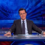 Stephen Colbert at Desk-ComedyCentral