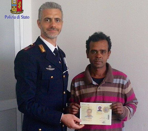 bangladesh-migrant awarded-State Police Rome-released
