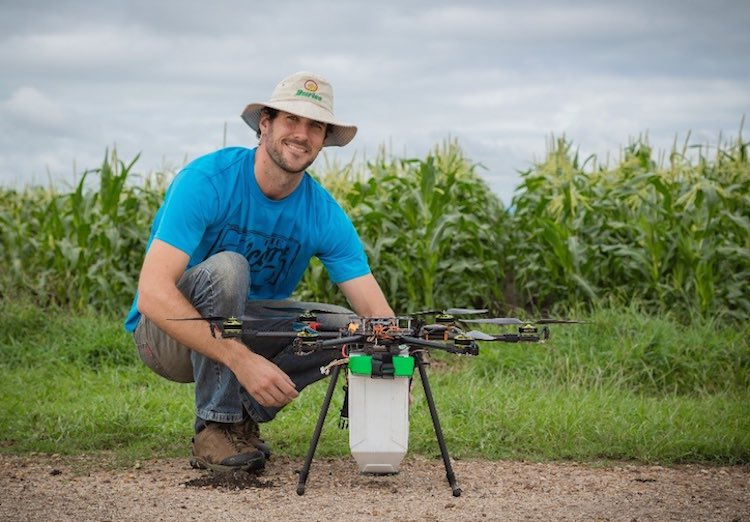 Drones Drop Beneficial Bugs on Crops as a Natural Pest Control