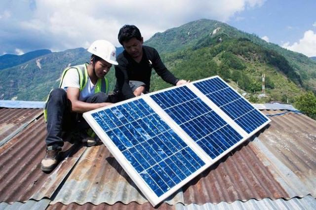 solar panel in Nepal-GhamPower