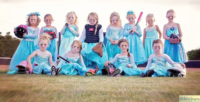 Frozen-baseball-princesses-Betsy Gregory Photography-permission