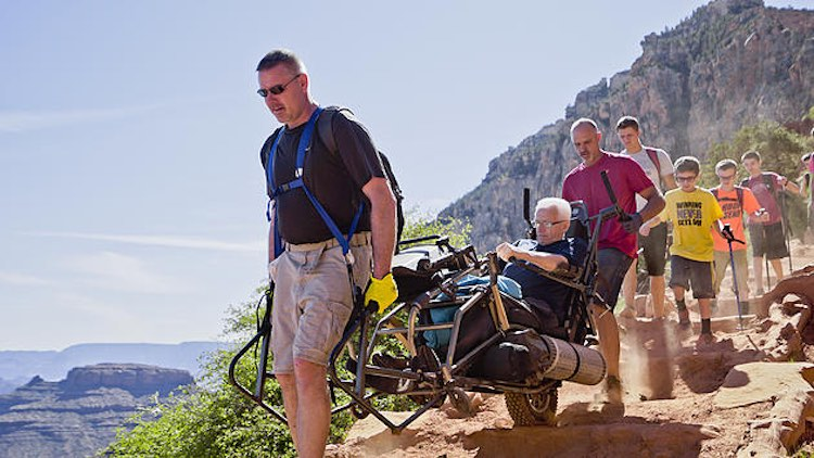 Headings family haul dad in grand canyon-disability-JohnHonaker-submitted