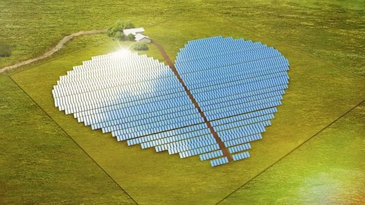 Solar Panels In The Shape Of A Heart Will Show Love For