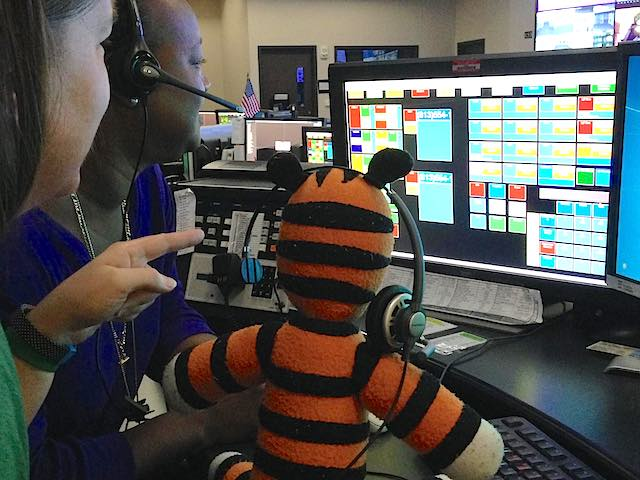 Hobbes stuffed tiger control tower Tampa Airport FB Page