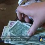 Homeless man returns wallet mom brain cancer screenshot CBS