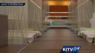 Honolulu bus homeless shelter interior KITV video