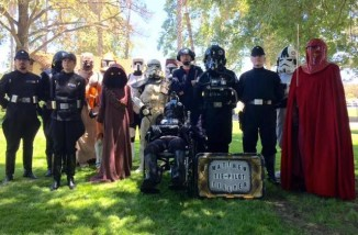 TIE fighter wheelchair with star wars-PrayersForMatthewTillyer-FB