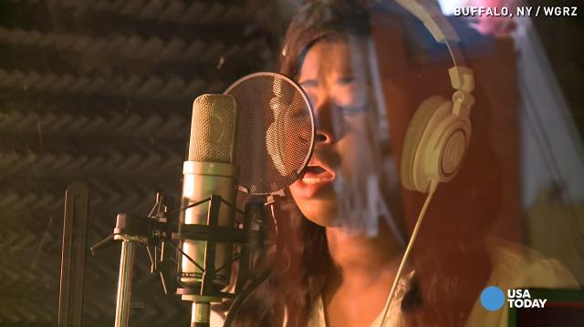 speechless Buffalo singer-WGRZ vid