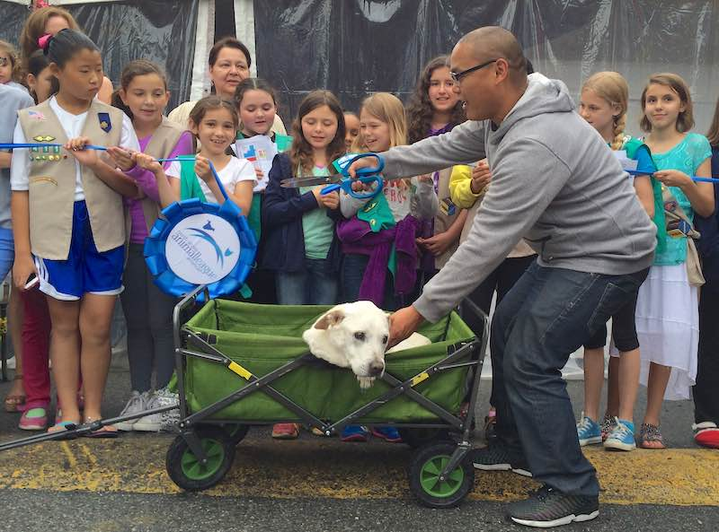 bucket list Dog and Thomas Cut Ribbon-submitted