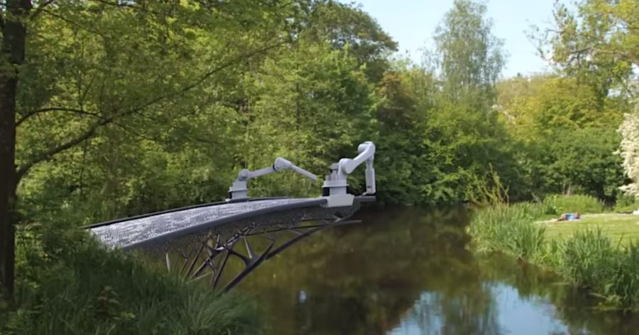 3d Metal Printing >> Robots Will 3-D Print a Bridge over Amsterdam Canal Using ...
