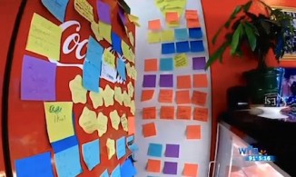 sticky-notes-pizza wall-WFLAVideo