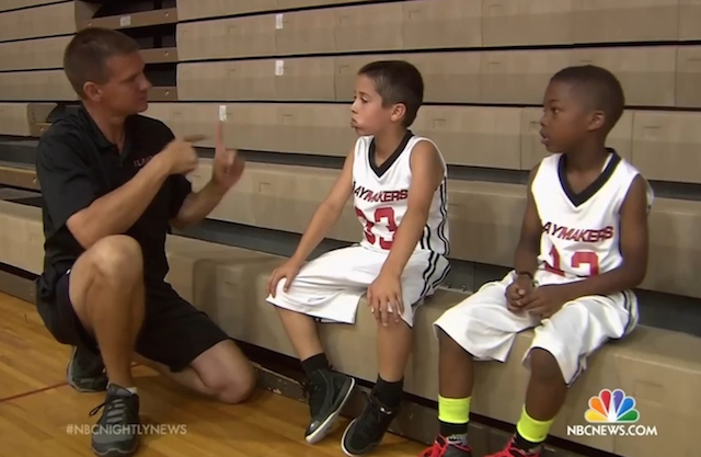 zeke deaf basketball with dad NBC video