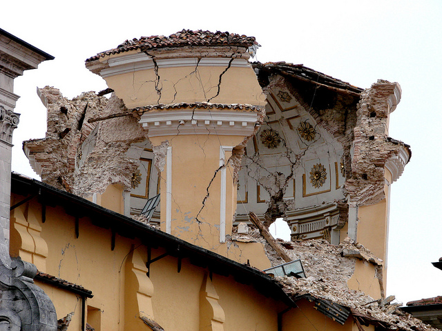 Italy earthquake damage CC UCL Mathematical and Physical Sciences