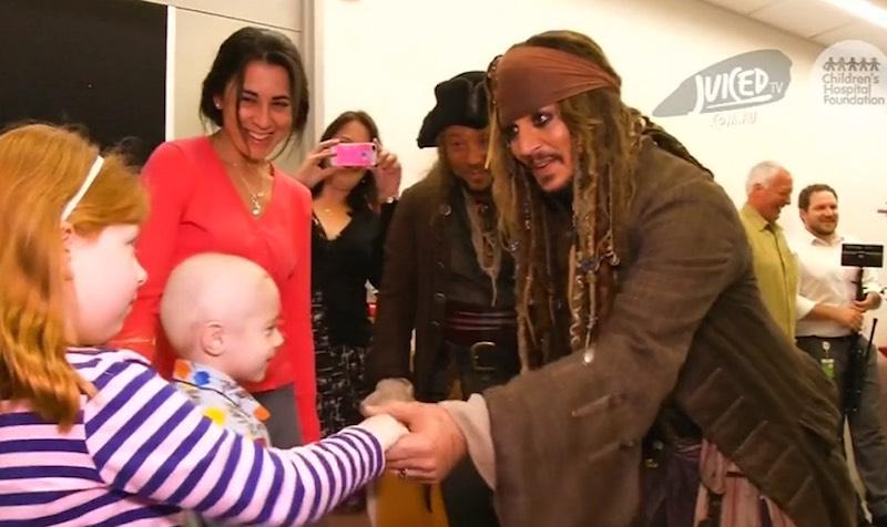Johnny Depp at Childrens Hospital Foundation-JuicedTV