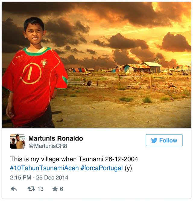 Martunis Ronaldo Twitter Embed