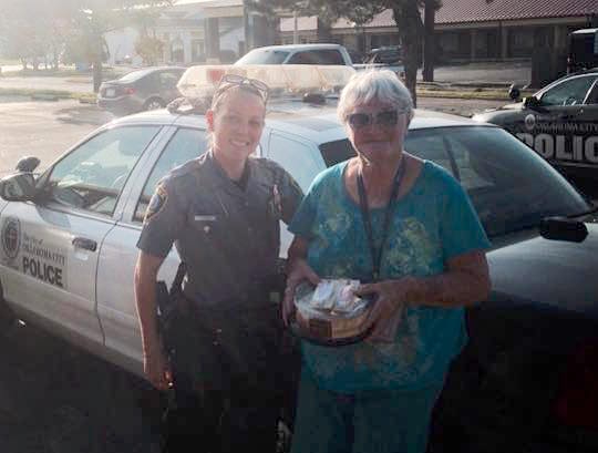 Miss Carroll-with-cop-Oklahoma City Police-FB