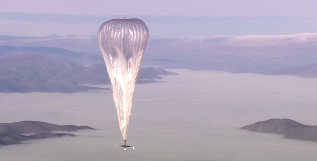 Project Loon screenshot Google