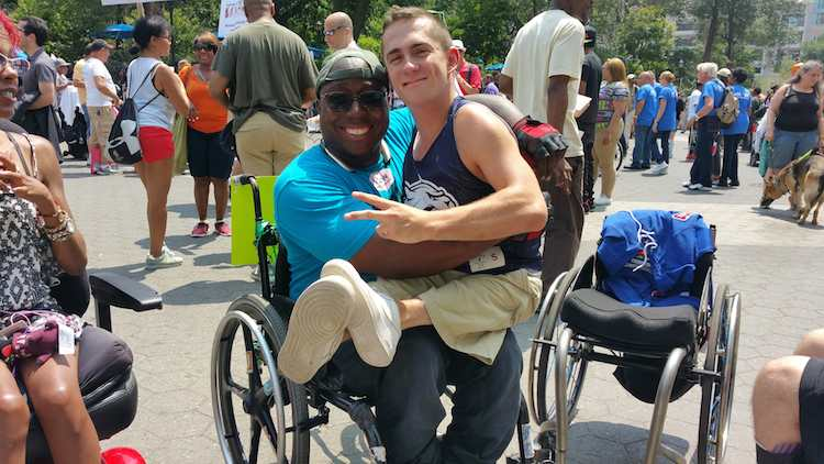 disabled pride parade dustin jones and friend submitted