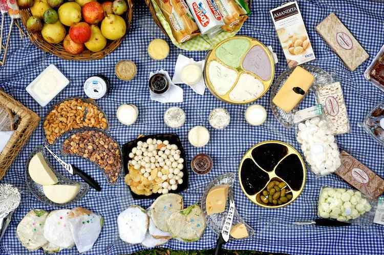 picnic spread blue CC michell Zappa