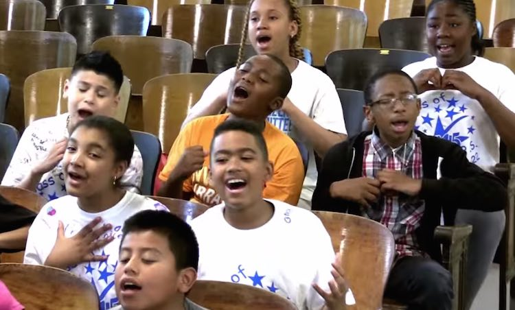 singing kids from NYC-PS 22-youtube