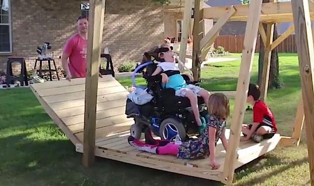 wheelchair swing Facebook SmarterEveryDay