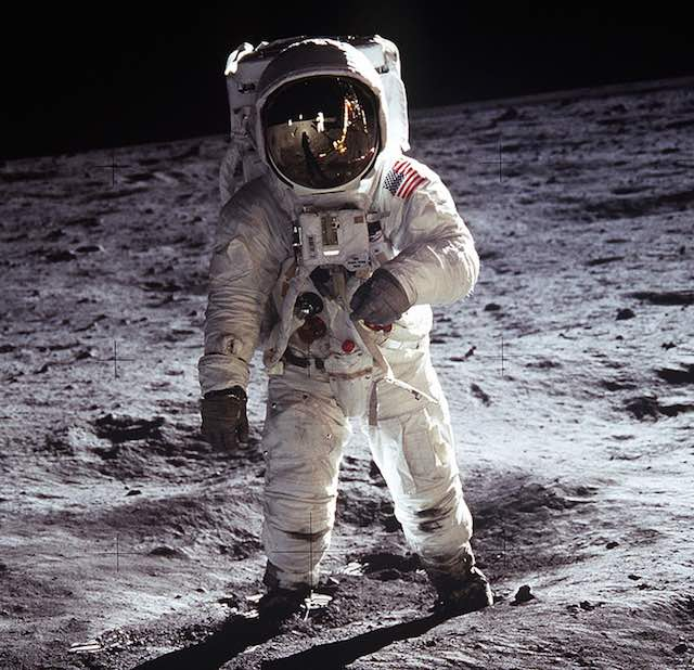 Buzz Aldrin on Moon PublicDomain NASA