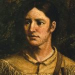 Davy Crockett- oil painting