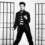 Elvis Presley Promotes Jailhouse Rock -1957