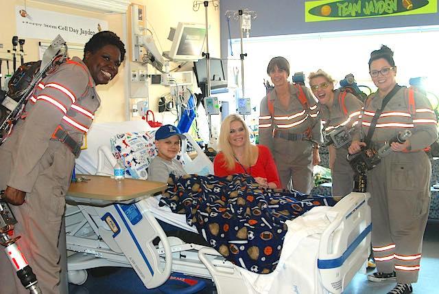 Ghostbusters cast Childrens Hospital Facebook Tufts Med Ctr