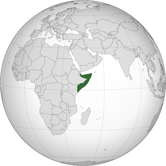 Globe map Somalia_horn of Africa