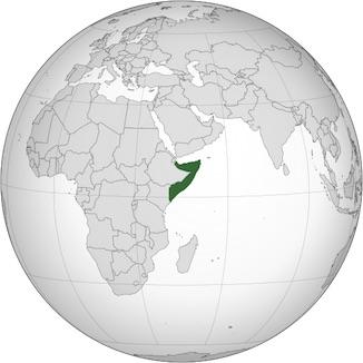 Globe map Somalia_horn of Africa