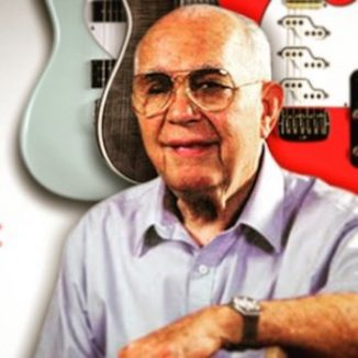 Leo Fender with Guitars