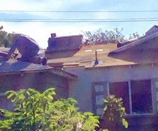 Man on roof Facebook David Perez