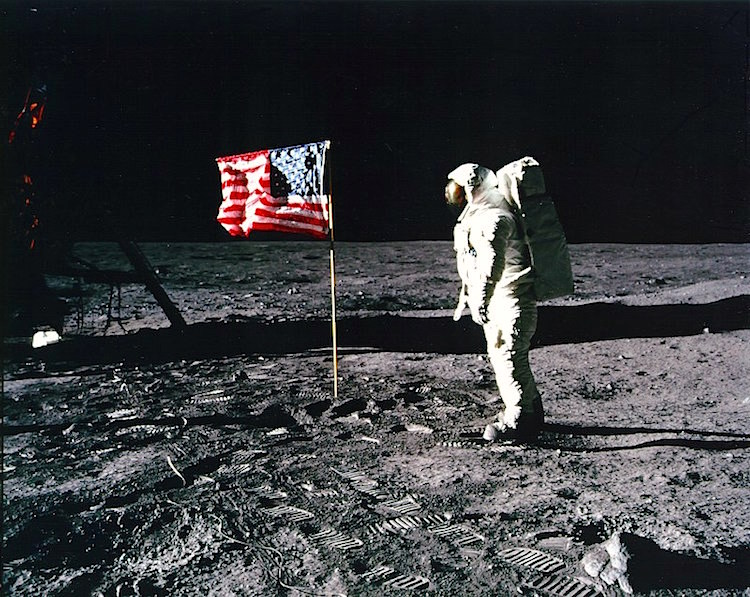 Moonwalk public domain NASA