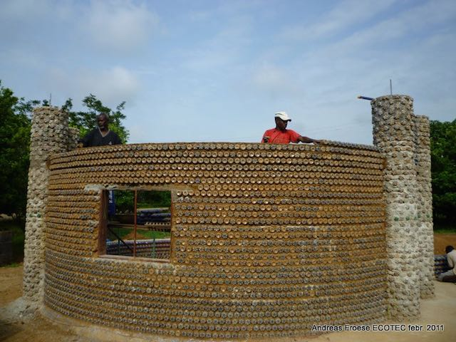 Plastic bottle house Facebook Andreas Froese