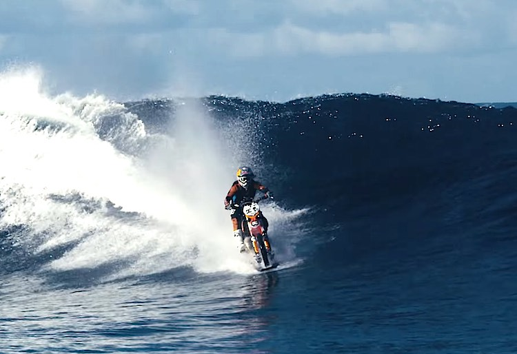 Robbie Maddison motorcycle surfing screenshot YouTube