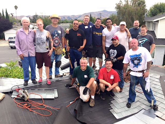 Roof volunteers Facebook David Perez
