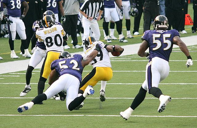Terrell Suggs and Ray Lewis CC Keith Allison